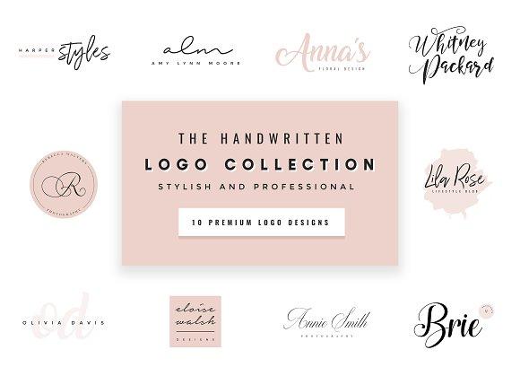 **NEW** Script Logo Font Collection