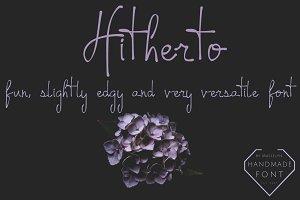Hitherto - Handwritten Font