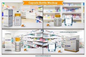 Capsule Bottle Mockup