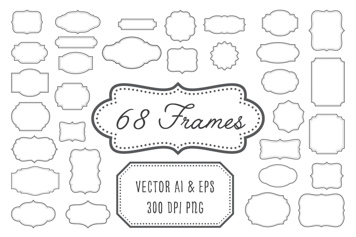 Vintage Frames, Labels, Badges ~ Graphic Objects