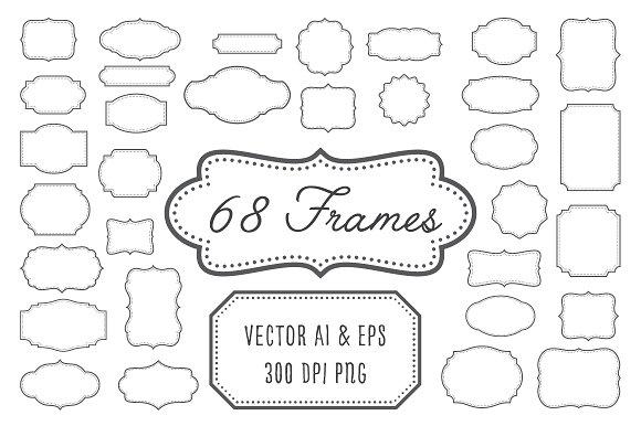 Vintage Frames Labels Badges