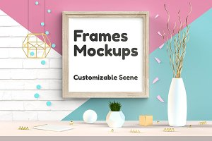 Frames Mockups - Customizable Scene