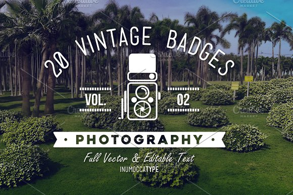 20 Vintage Badge Photography Vol.02