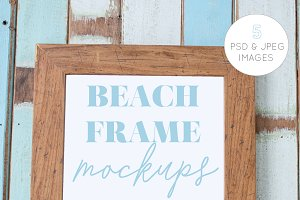 Beach Theme Photo Frame Mockups