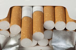 Heap of cigarettes