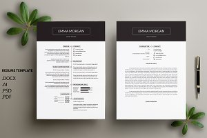 Professional CV / Resume Template /M