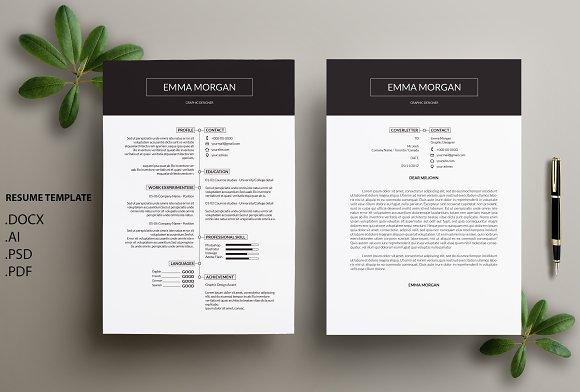 Professional CV Resume Template M