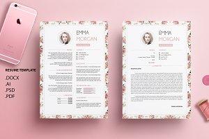 Vintage Floral V2 CV / Resume / M