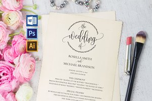 Wedding Program WPC188