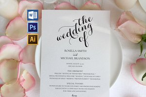 Wedding Program WPC190