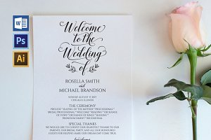 Wedding Program WPC192
