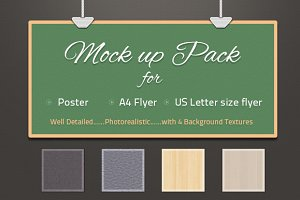 Photorealistic Poster & Flyer Mockup