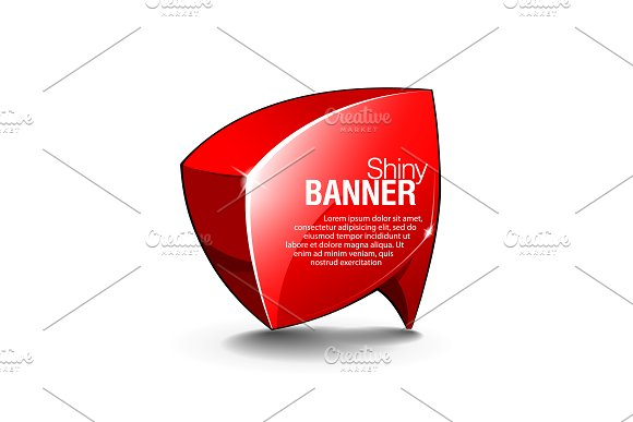 Abstract Shiny Glass Vector Banner