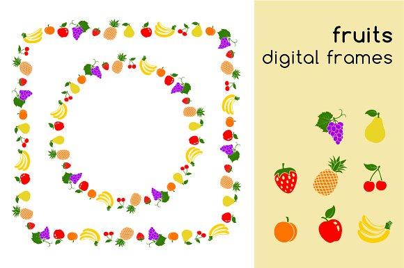 Fruits Digital Frames