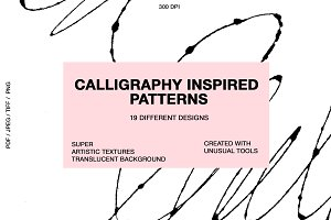 Calligraphy inspired patterns