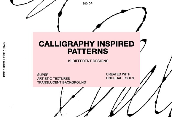 Calligraphy inspired patterns in Patterns