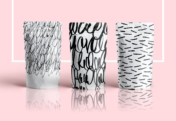 Calligraphy inspired patterns in Patterns - product preview 5