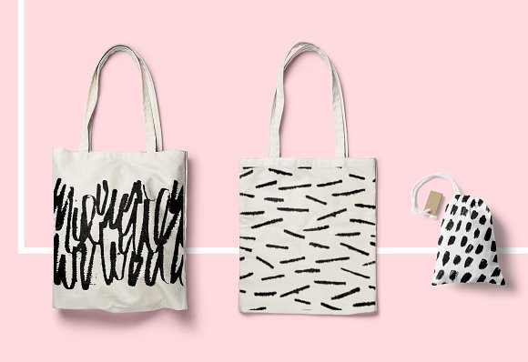 Calligraphy inspired patterns in Patterns - product preview 6