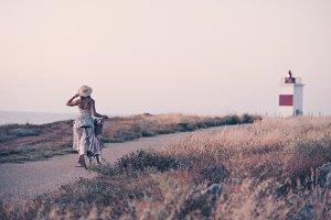 Girl travel outdoors