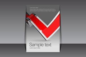 Red and gray design template covers