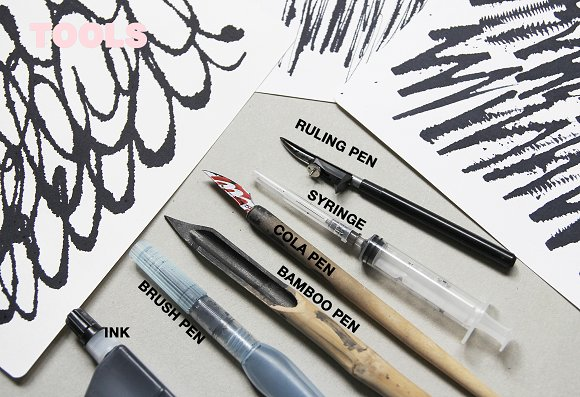 Calligraphy inspired patterns in Patterns - product preview 10