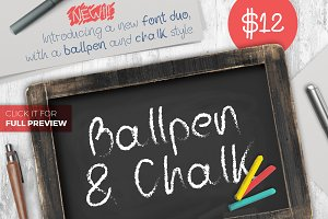 Ballpen and Chalk Typeface