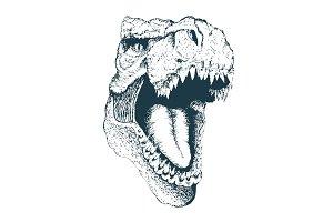 T-rex head.hand drawn style