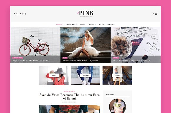 ThePink WordPress Blog Theme