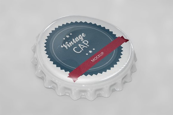 Bottle Cap Scratched Mockup