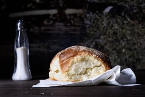 Baked burger bun,  fresh pastry