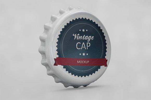 Bottle Cap Scratched Mockup