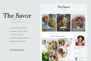 Savor Food Bloggers WordPress Theme