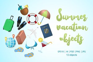 Summer vacation objects