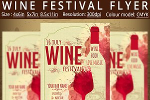 Wine Festival Flyer Vintage