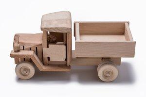 Wooden truck toy
