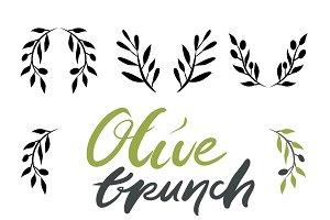 Olive brunch big set
