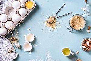 Bakery ingredients - flour, eggs