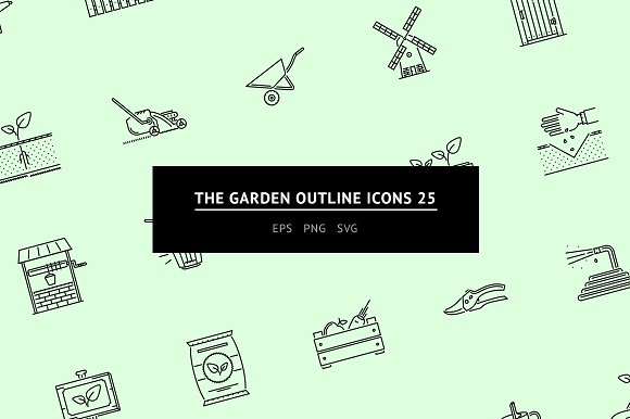 The Garden Outline Icons 25