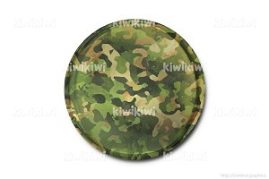 Military badge 3D illustration