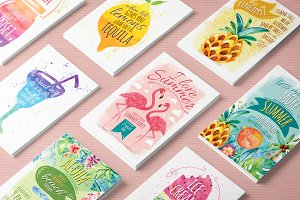 Summer kit - invitations and cards