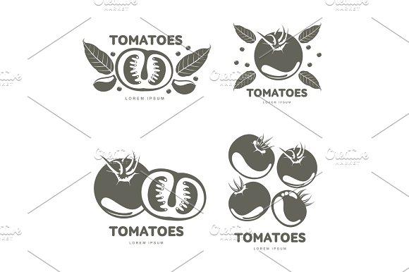 Tomatoes Logo Templates Illustration