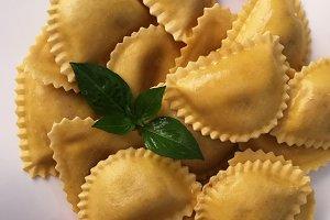 Italian pasta, ravioli,