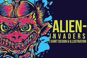 Alien Invaders Illustration