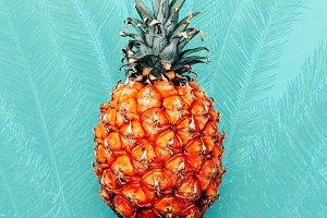 Tropical pineapple. Minimal design