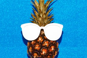 Pineapple and sunglasses