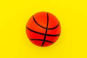Basketball on a yellow background