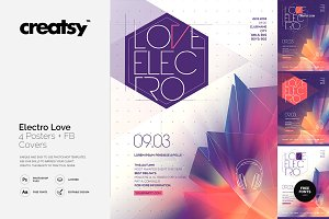 Electro Love 4 Posters & FB Covers
