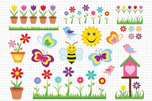 Cute Spring Illustration
