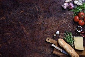 Vegan sandwich ingredients.