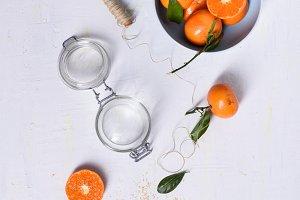 Ripe tangerines, fresh